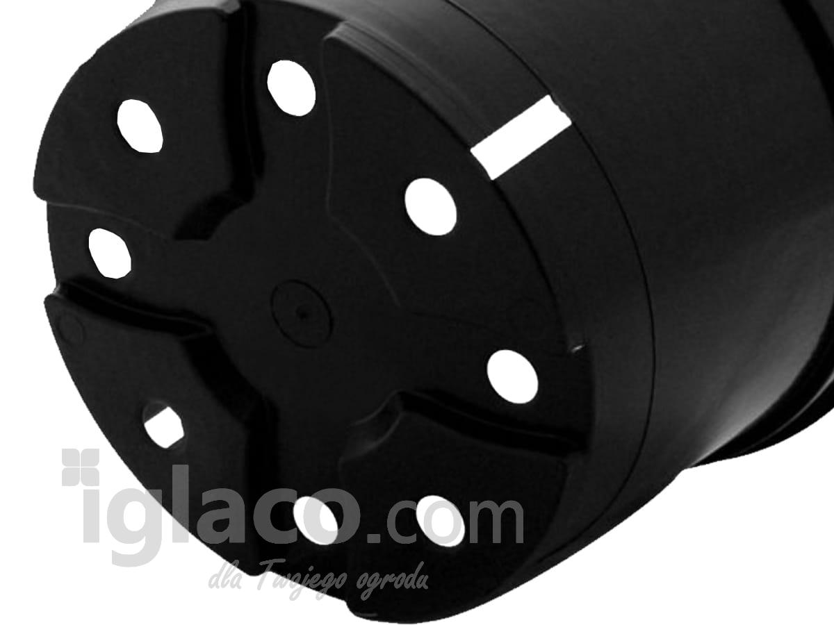 Doniczka Okrągła Fi 29 Cm 10 L Czarna