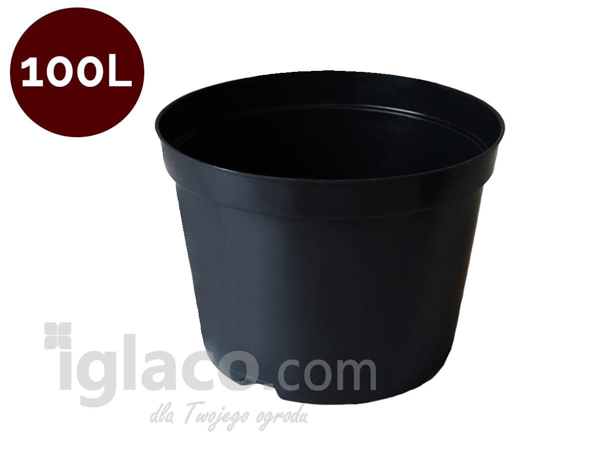 Doniczka Okrągła Fi 60 Cm 100 L Czarna