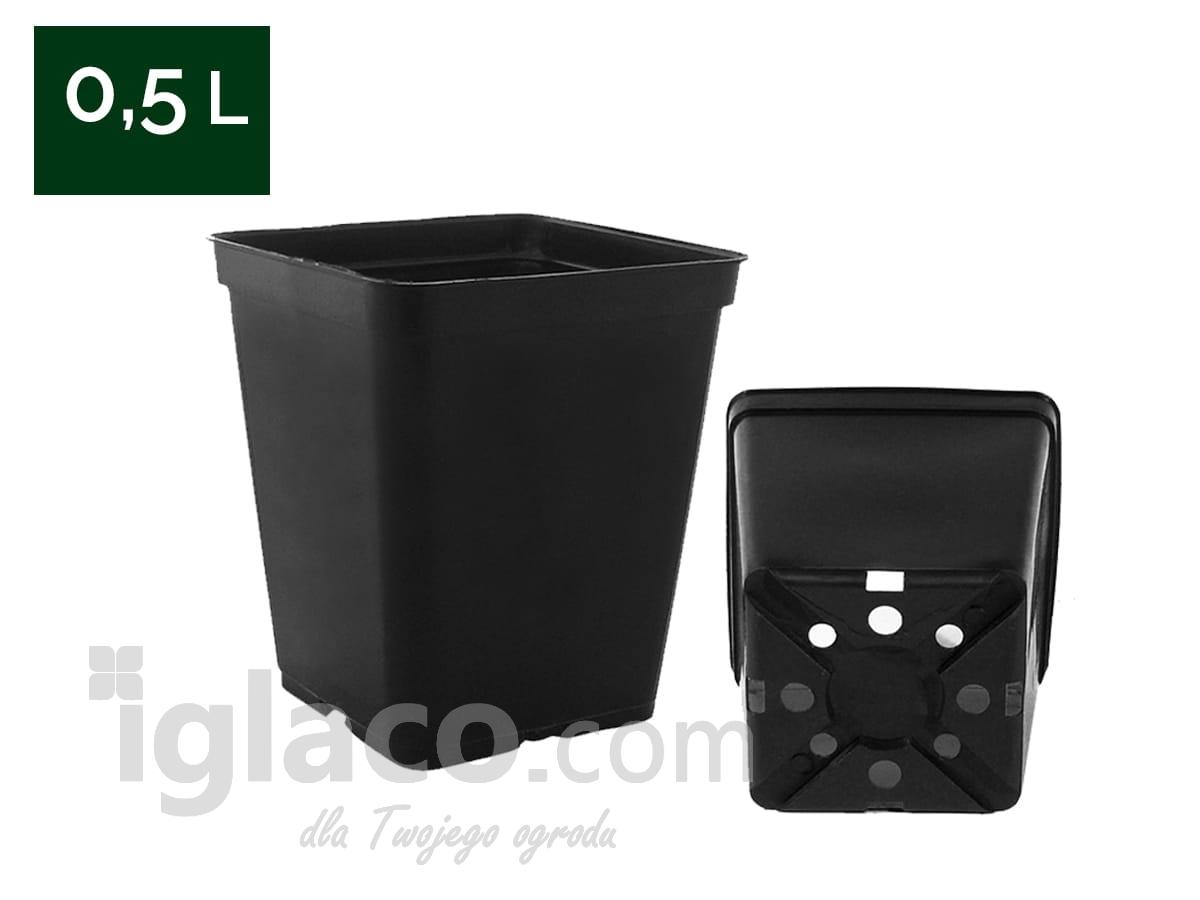 Doniczka Kwadratowa 05 L 9x9x10 Cm Czarna