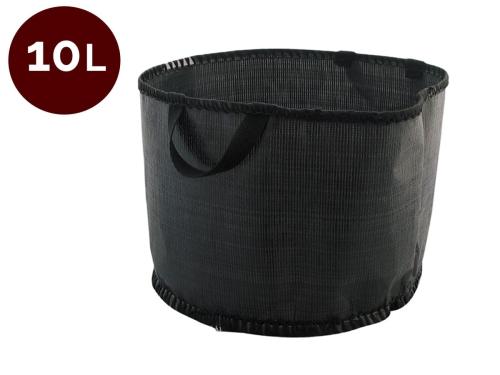 Doniczka Elastyczna 10 L Czarna Z Uchwytami Tkanina